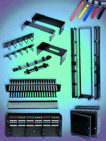 Patch panels relay racks Cable ties and Cable Management